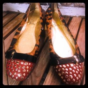Fifi & Elvis leopard print shoes 8